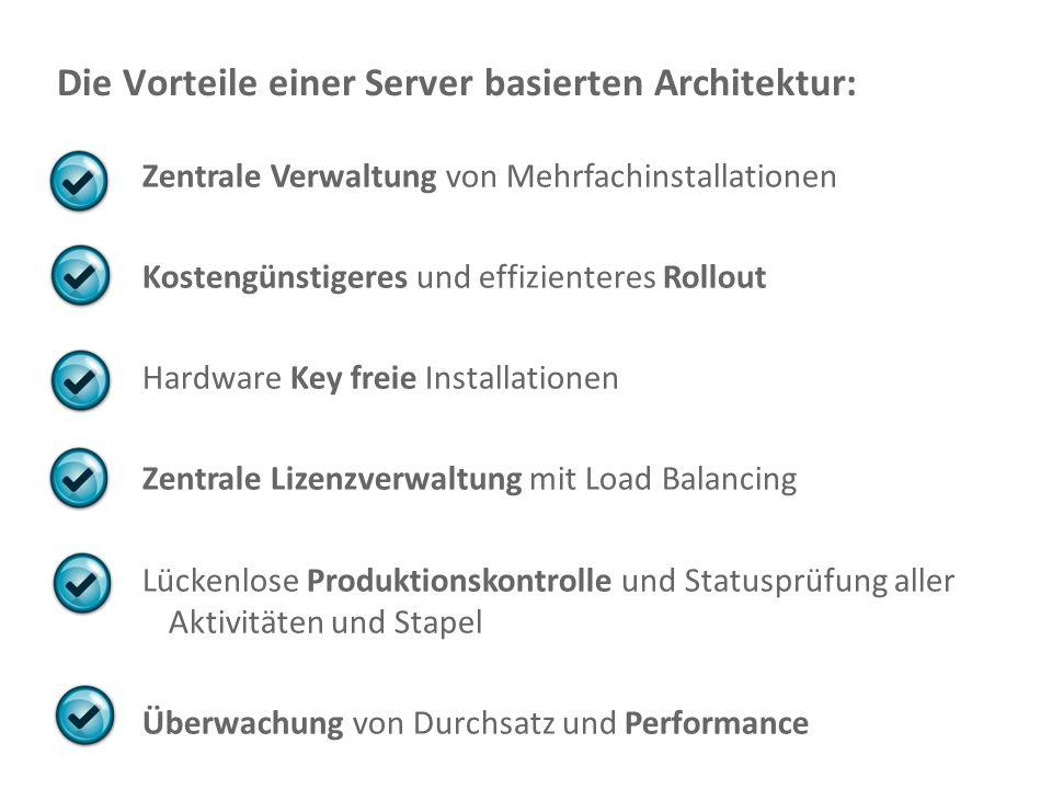 Die Vorteile einer Server basierten Architektur: