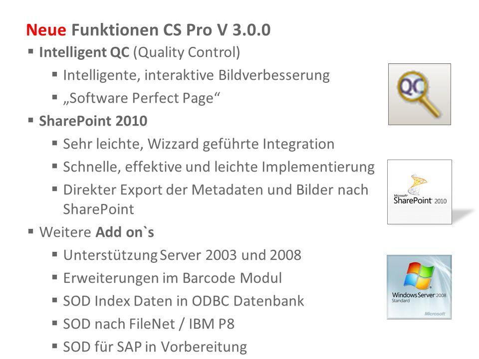 Neue Funktionen CS Pro V 3.0.0