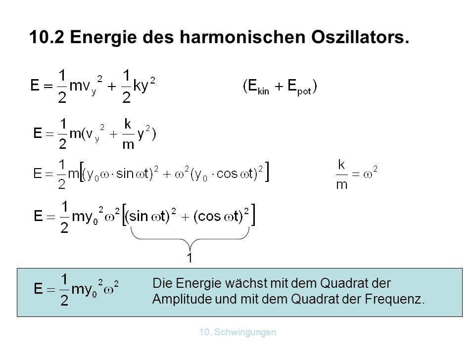 10.2 Energie des harmonischen Oszillators.