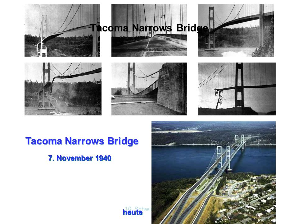 Tacoma Narrows Bridge Tacoma Narrows Bridge 7. November 1940 heute