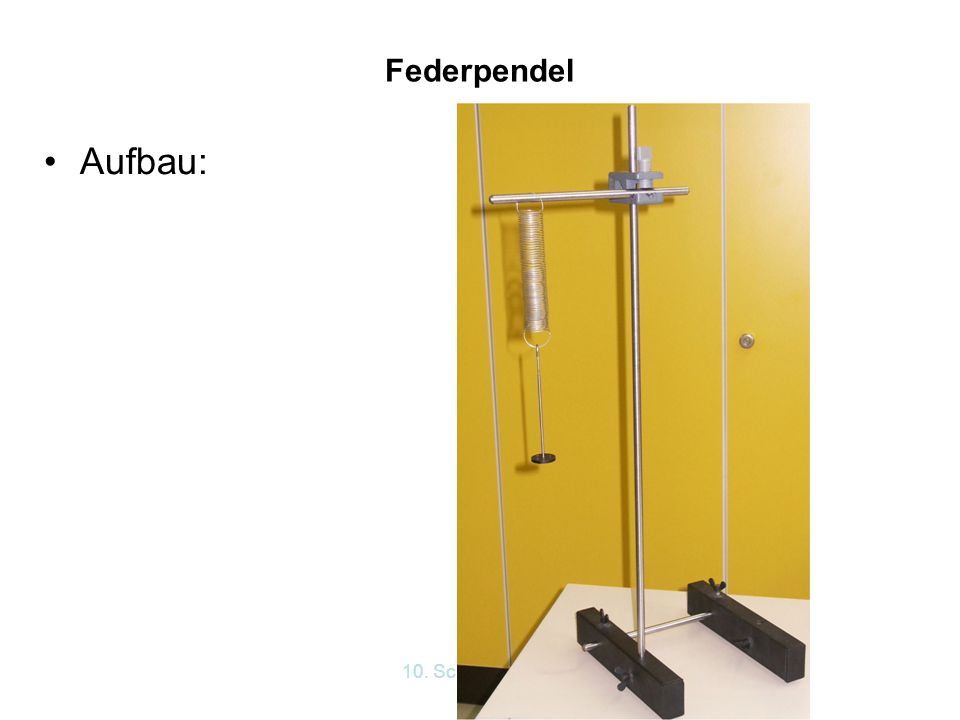 Federpendel Aufbau: 10. Schwingungen
