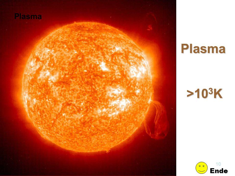 Plasma Plasma >103K Kap.14 Elektrizität Ende