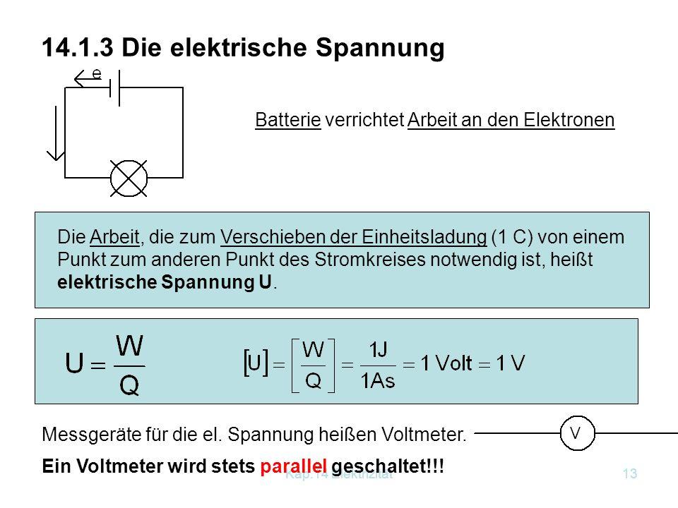 14.1.3 Die elektrische Spannung