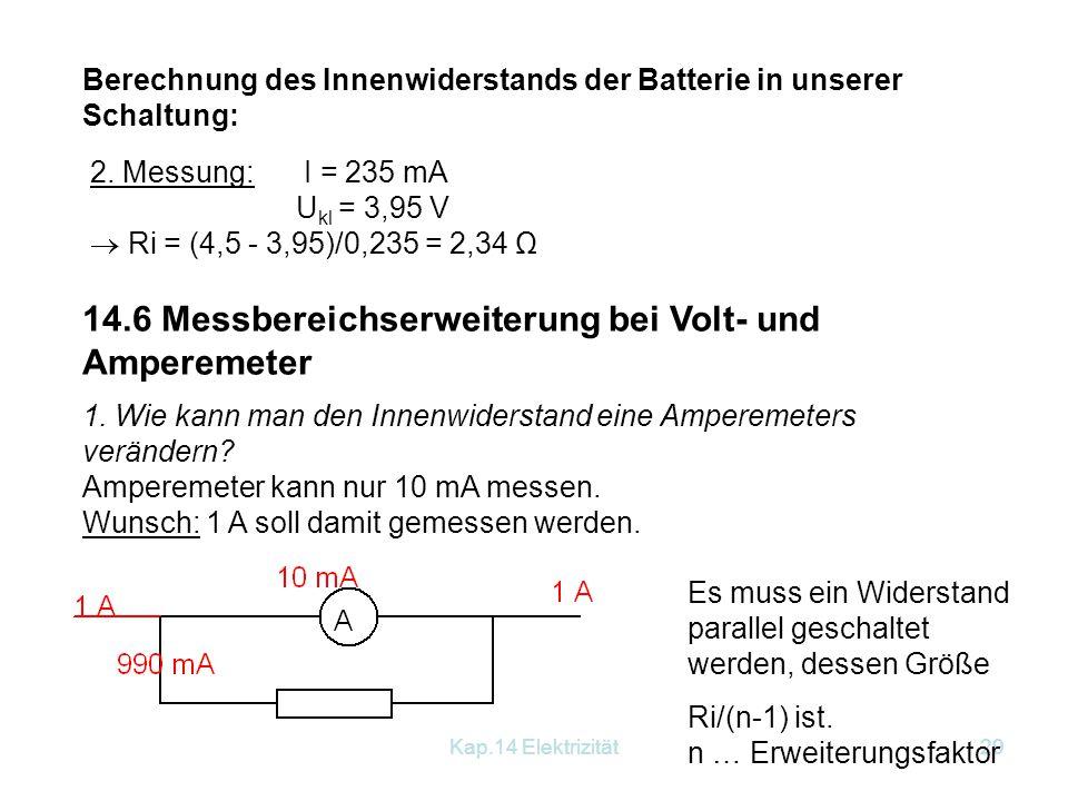 14.6 Messbereichserweiterung bei Volt- und Amperemeter