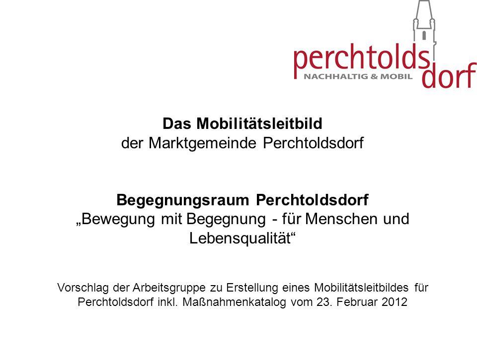 Das Mobilitätsleitbild der Marktgemeinde Perchtoldsdorf