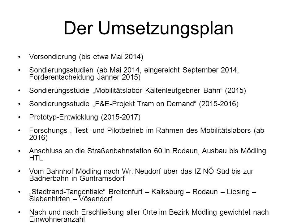 Der Umsetzungsplan Vorsondierung (bis etwa Mai 2014)