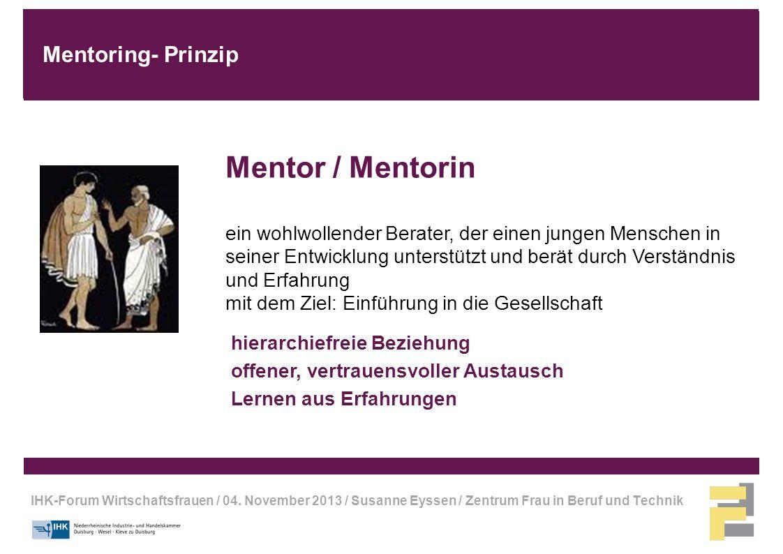 Mentor / Mentorin Mentoring- Prinzip