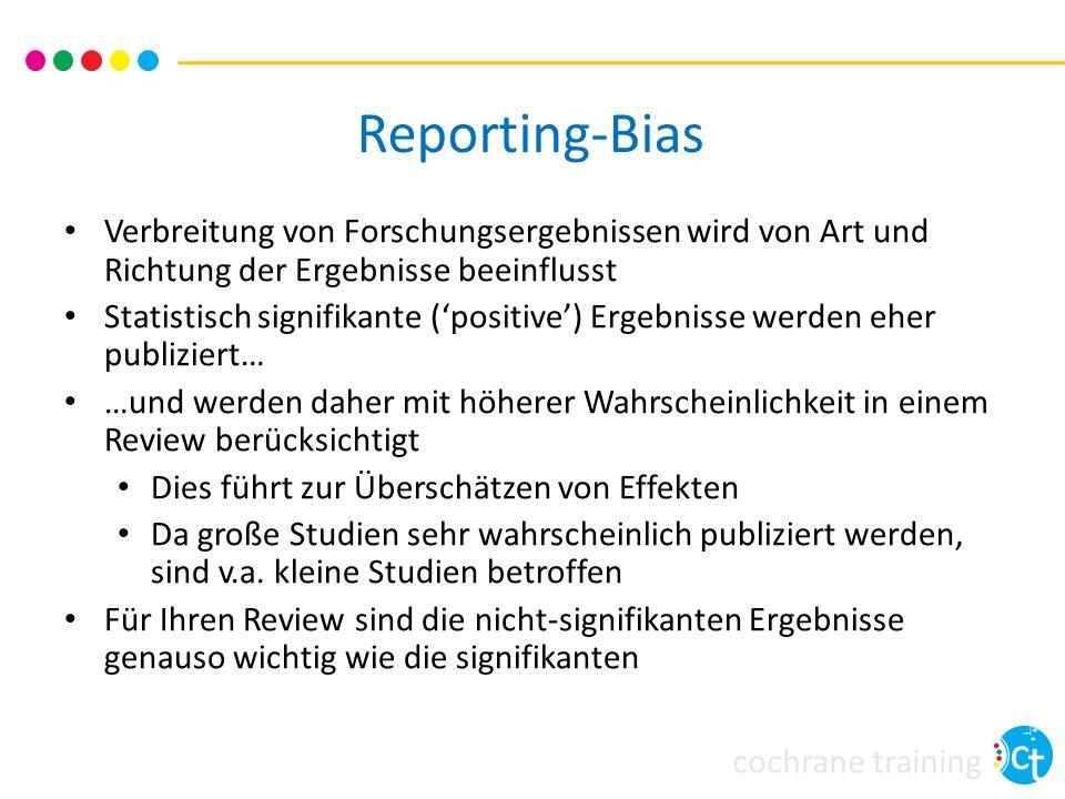 Reporting-Bias Verbreitung von Forschungsergebnissen wird von Art und Richtung der Ergebnisse beeinflusst.