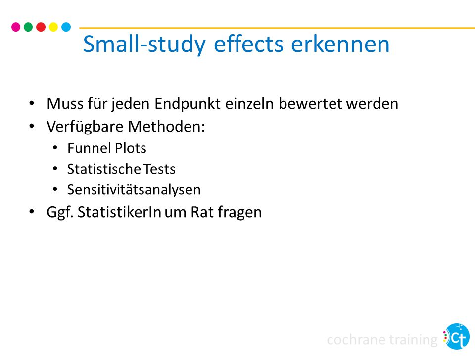 Small-study effects erkennen