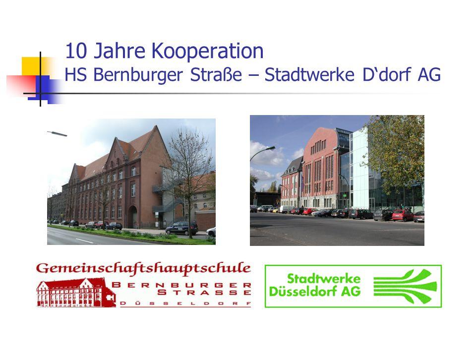 10 Jahre Kooperation HS Bernburger Straße – Stadtwerke D'dorf AG