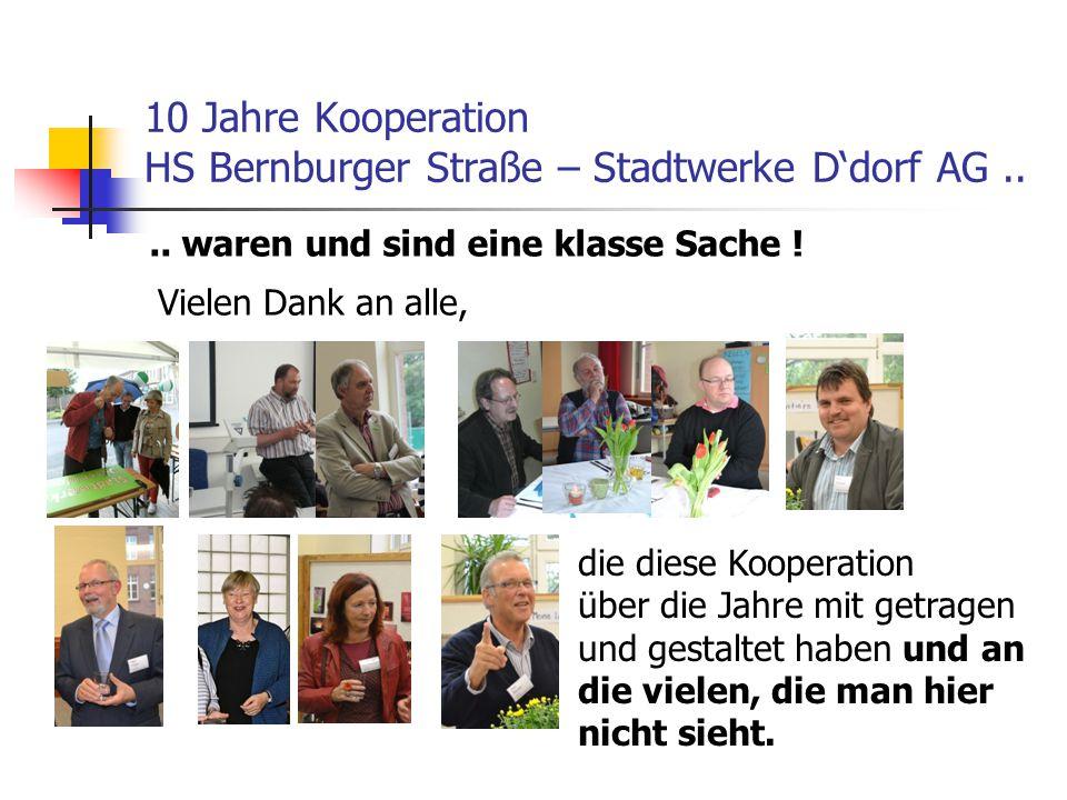 10 Jahre Kooperation HS Bernburger Straße – Stadtwerke D'dorf AG ..