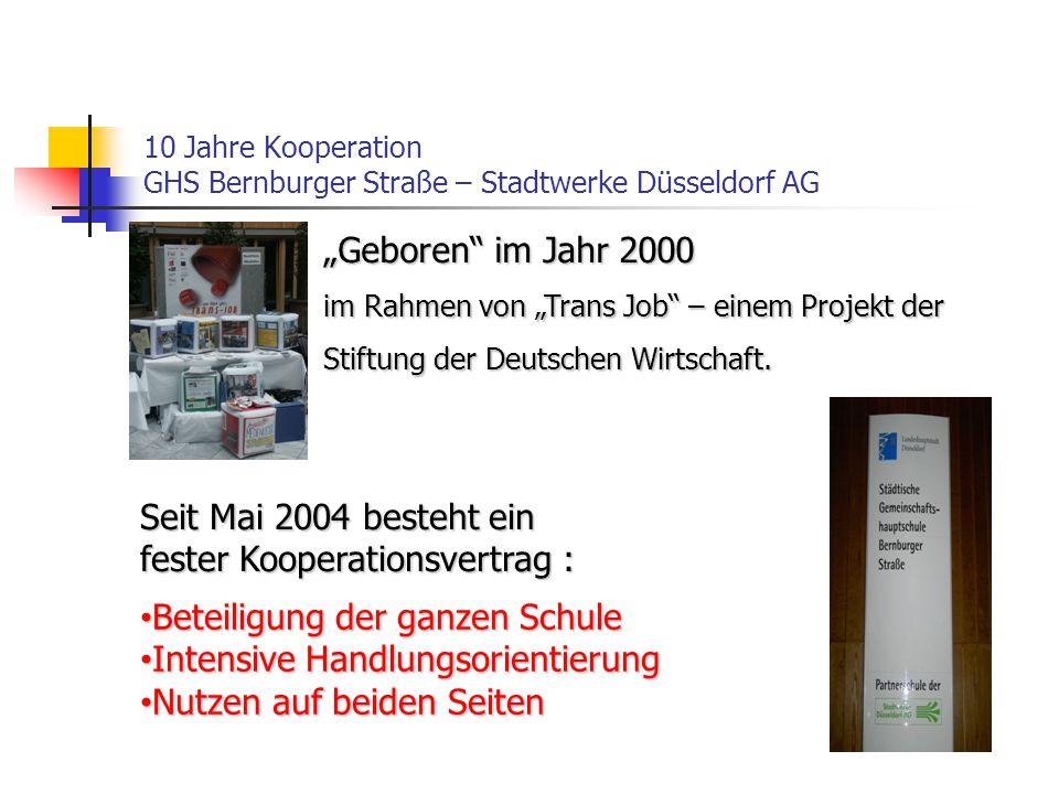 10 Jahre Kooperation GHS Bernburger Straße – Stadtwerke Düsseldorf AG