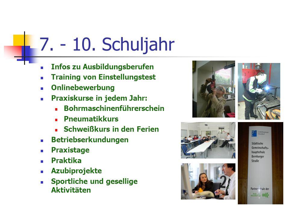 7. - 10. Schuljahr Infos zu Ausbildungsberufen