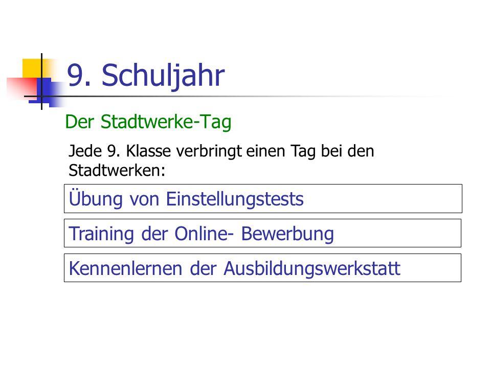 9. Schuljahr Der Stadtwerke-Tag Übung von Einstellungstests