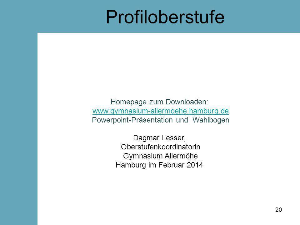 Profiloberstufe Homepage zum Downloaden: