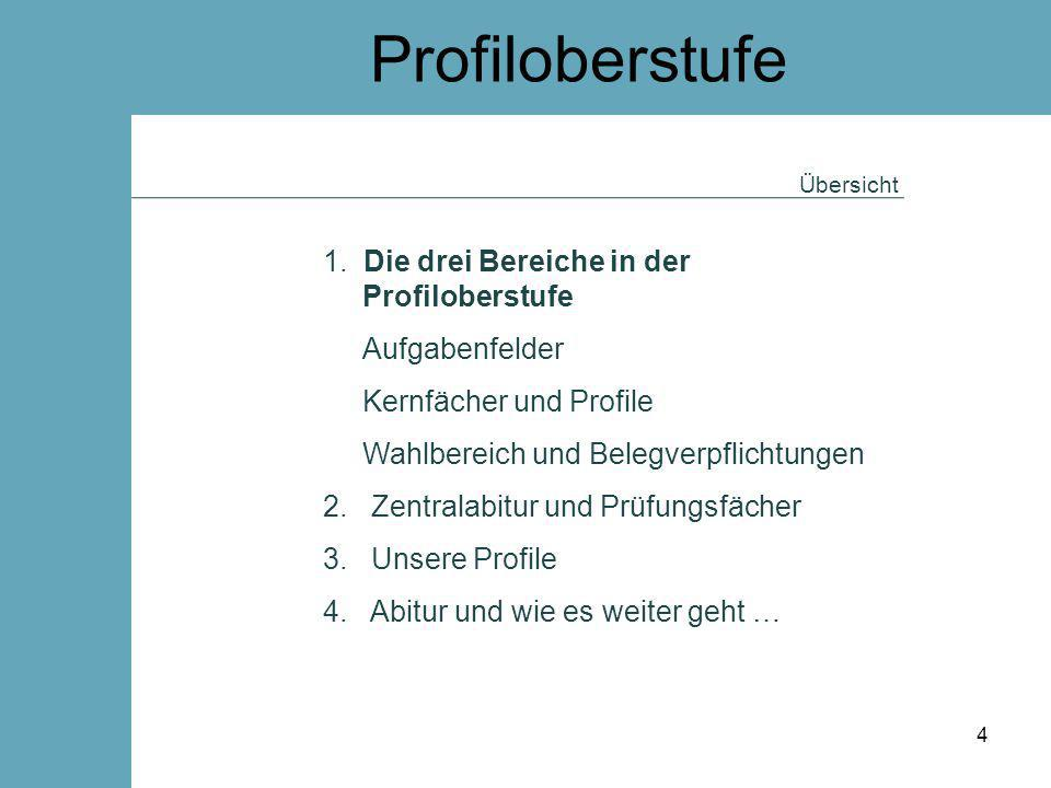 Profiloberstufe 1. Die drei Bereiche in der Profiloberstufe
