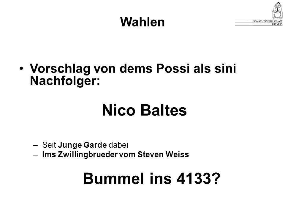 Nico Baltes Bummel ins 4133 Wahlen