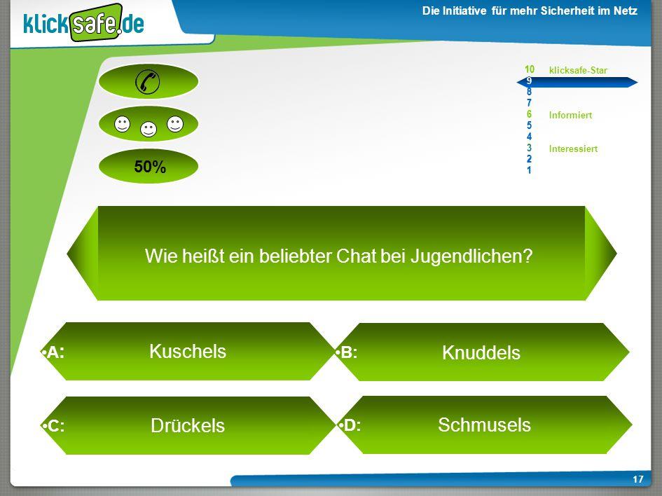 Wie heißt ein beliebter Chat bei Jugendlichen