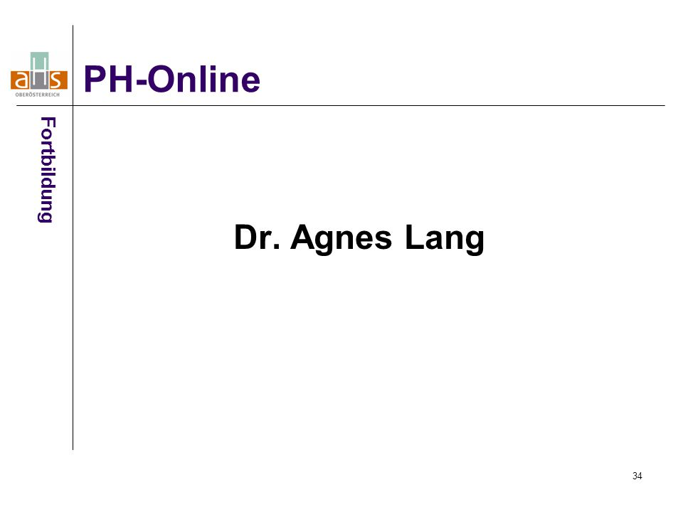 PH-Online Fortbildung Dr. Agnes Lang 34