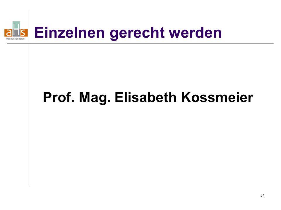 Prof. Mag. Elisabeth Kossmeier