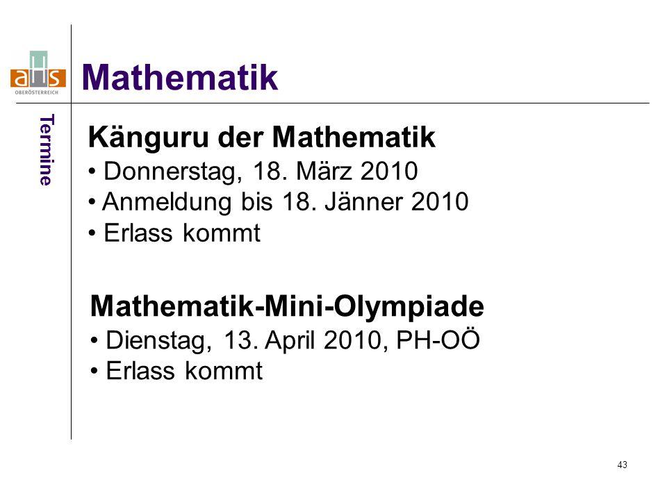 Mathematik Känguru der Mathematik Mathematik-Mini-Olympiade