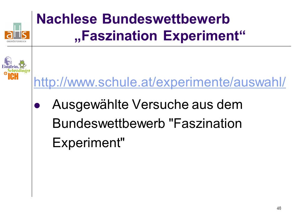 """Faszination Experiment"