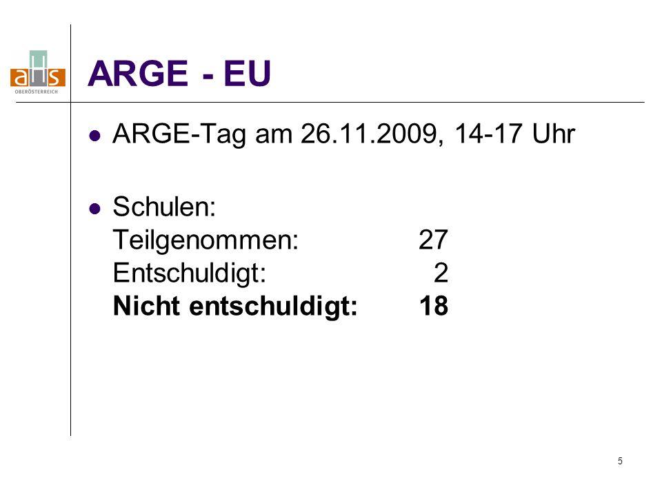 ARGE - EU ARGE-Tag am 26.11.2009, 14-17 Uhr