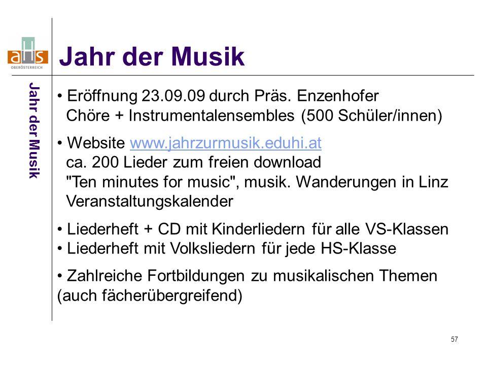 Jahr der Musik Eröffnung 23.09.09 durch Präs. Enzenhofer