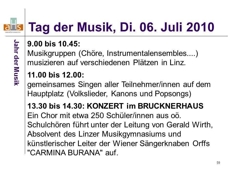 Tag der Musik, Di. 06. Juli 2010 Jahr der Musik.