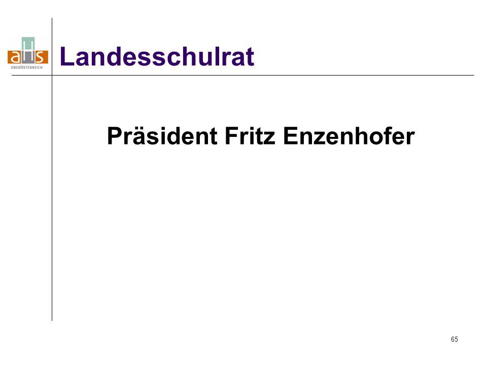 Präsident Fritz Enzenhofer
