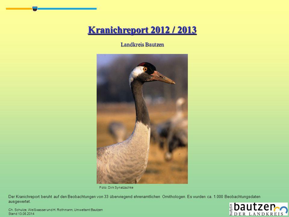 Kranichreport 2012 / 2013 Landkreis Bautzen
