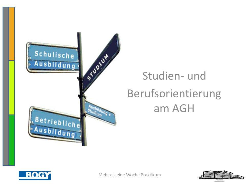 Studien- und Berufsorientierung am AGH