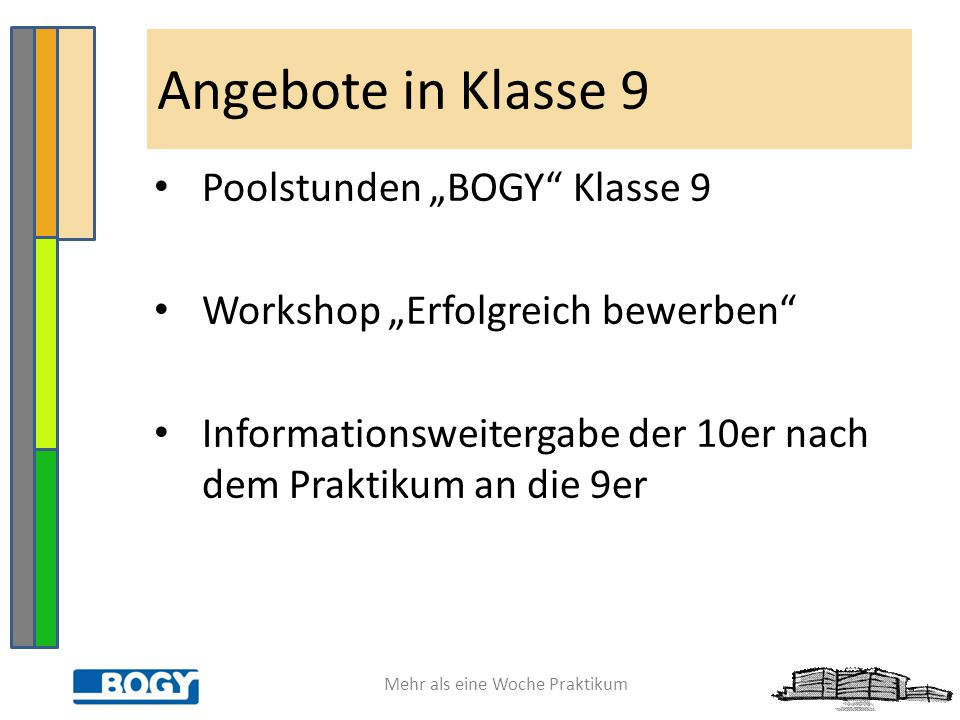 "Angebote in Klasse 9 Poolstunden ""BOGY Klasse 9"