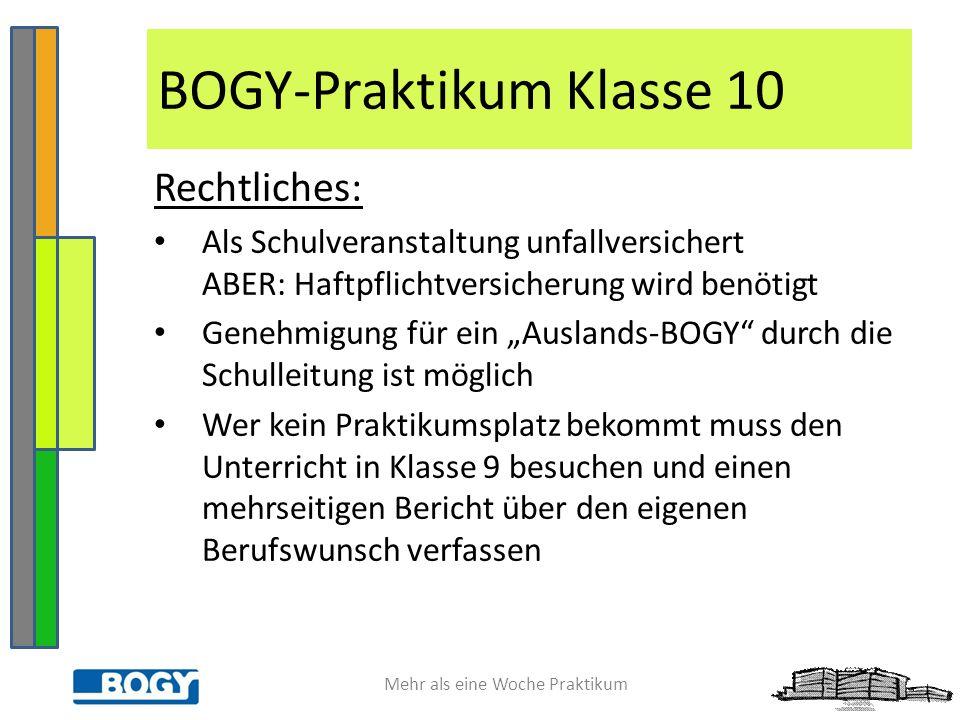 BOGY-Praktikum Klasse 10