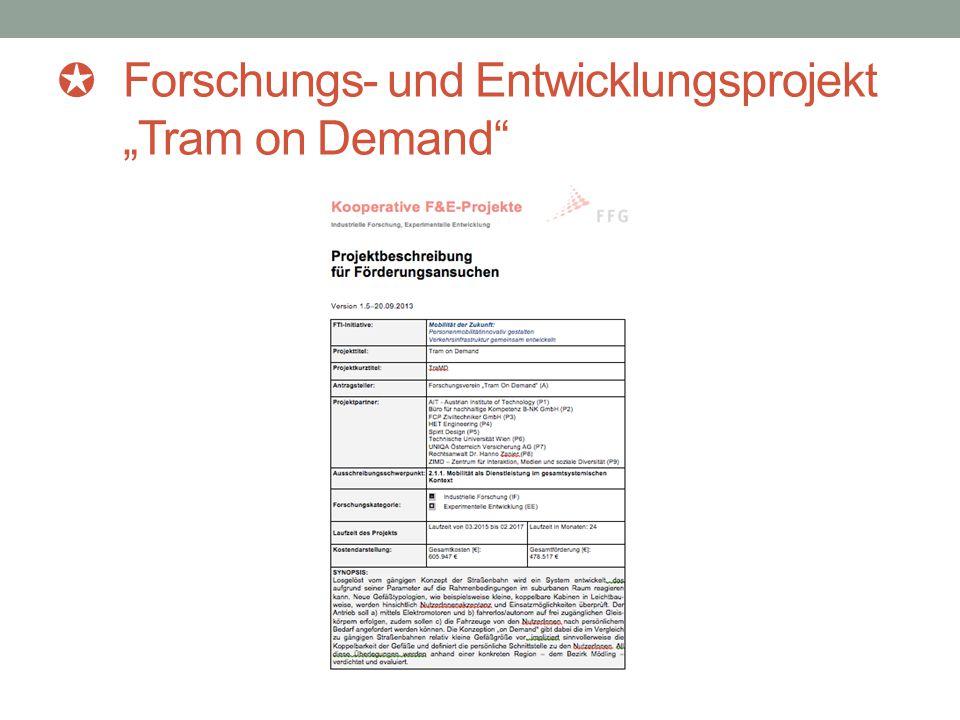 """✪ Forschungs- und Entwicklungsprojekt """"Tram on Demand"""