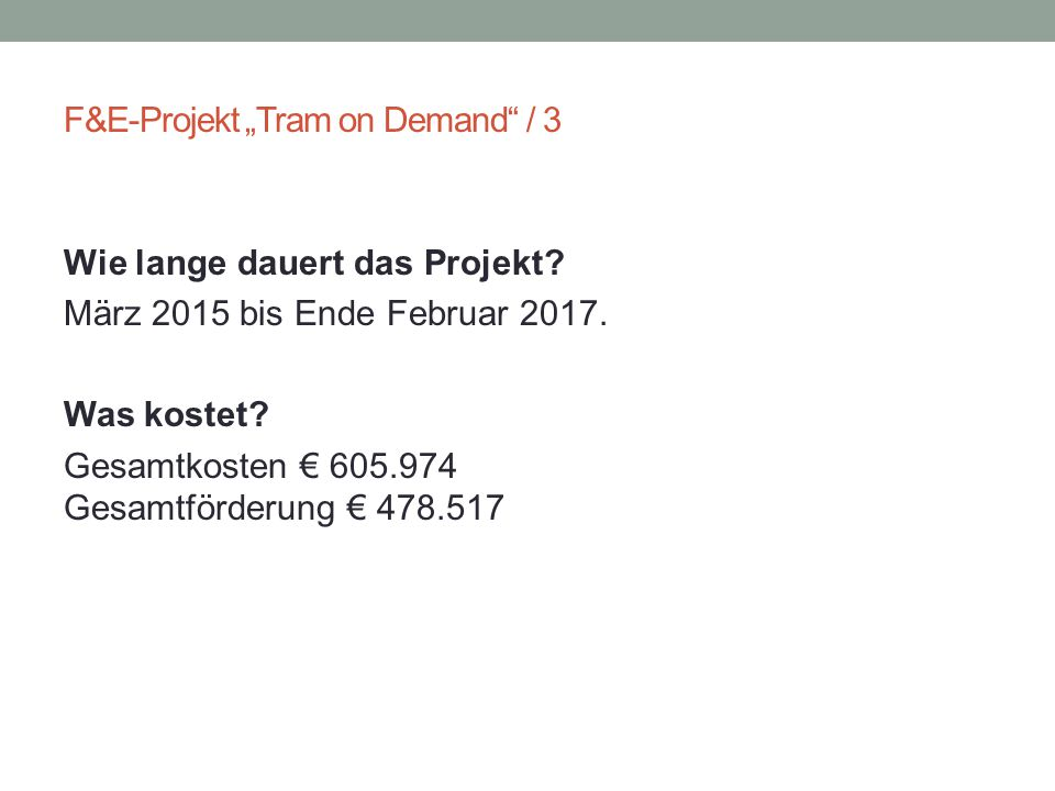 "F&E-Projekt ""Tram on Demand / 3"