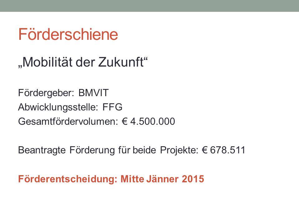 """Förderschiene """"Mobilität der Zukunft Fördergeber: BMVIT"""