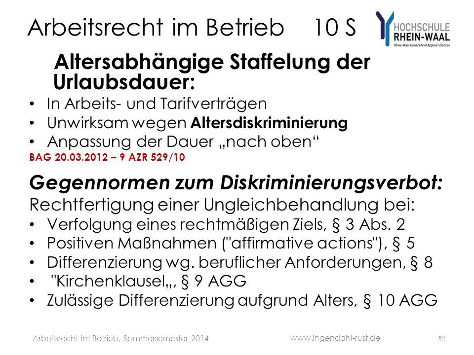 Arbeitsrecht im Betrieb 10 S
