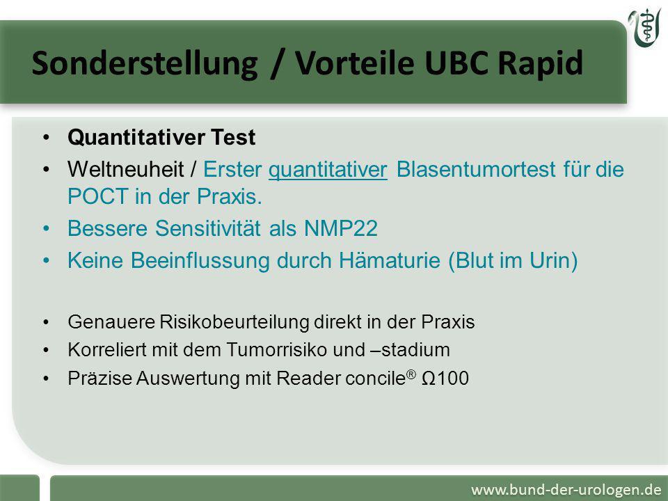 Sonderstellung / Vorteile UBC Rapid