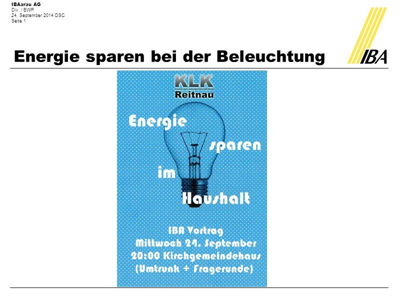 Energie sparen bei der Beleuchtung