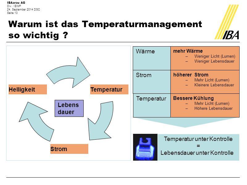 Warum ist das Temperaturmanagement so wichtig
