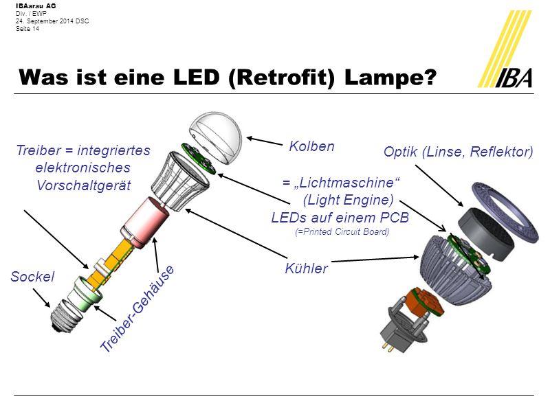 Was ist eine LED (Retrofit) Lampe