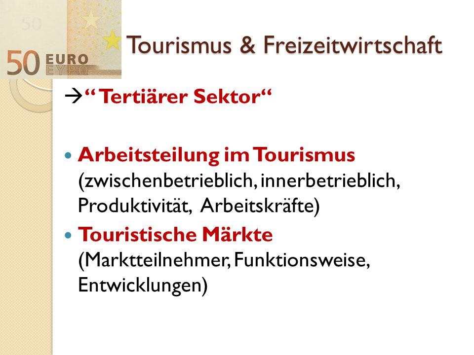 Tourismus & Freizeitwirtschaft