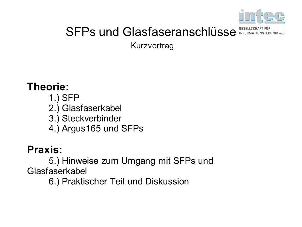 SFPs und Glasfaseranschlüsse Kurzvortrag