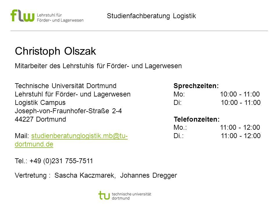 Christoph Olszak Studienfachberatung Logistik