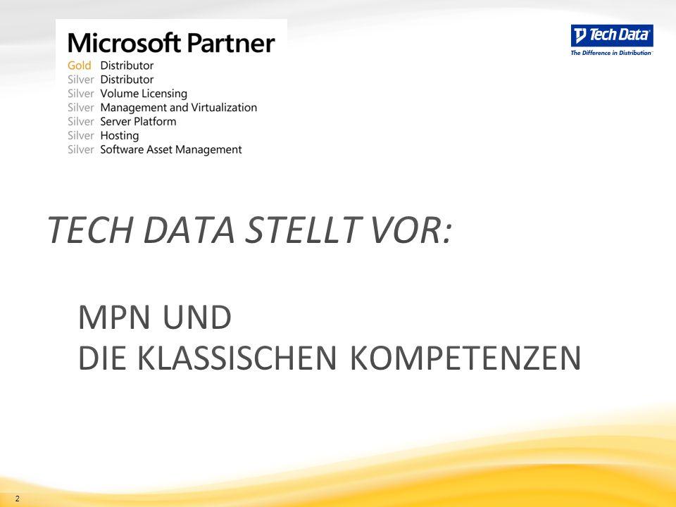 Tech Data stellt vor: MPN und die klassischen kompetenzen