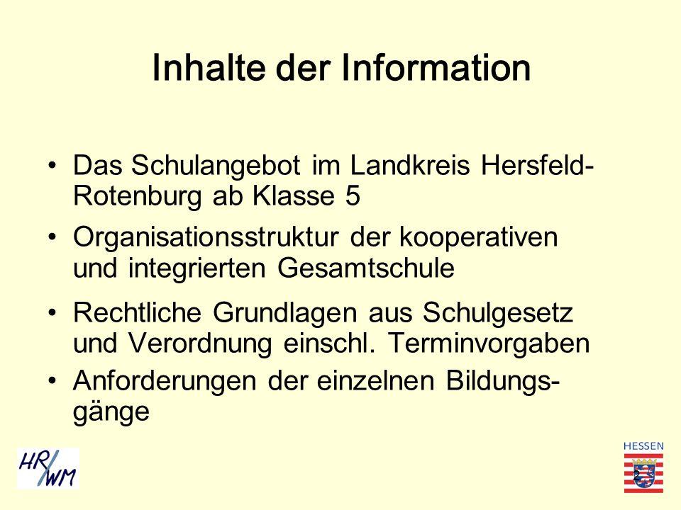 Inhalte der Information