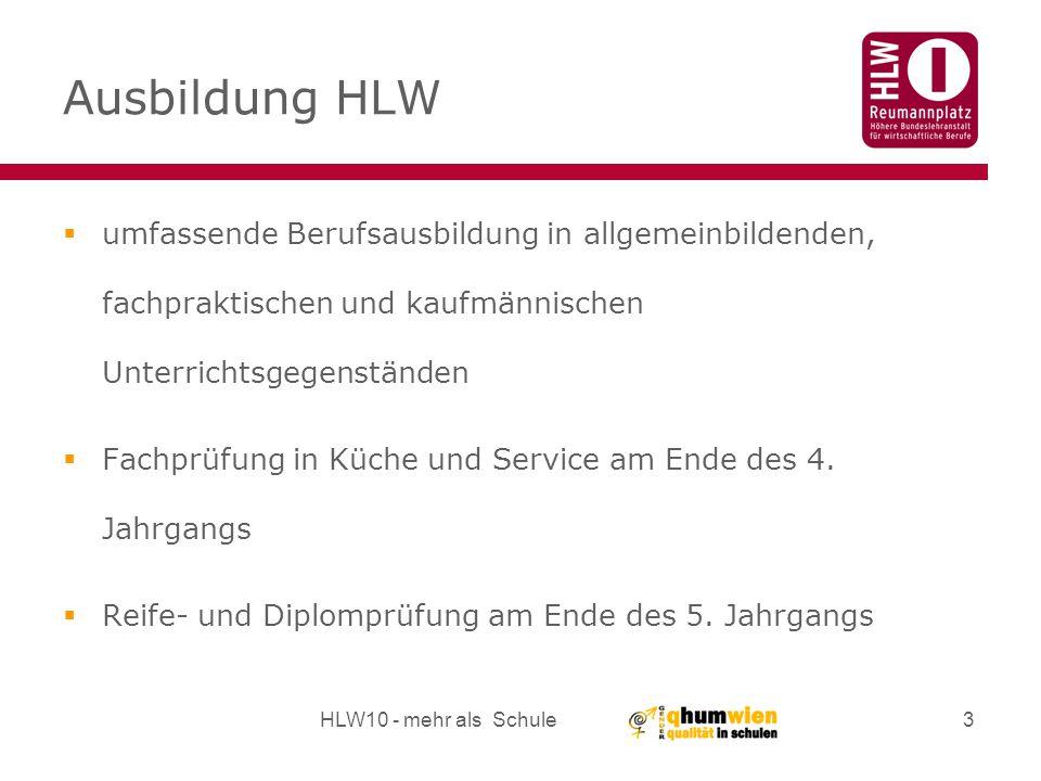 Ausbildung HLW umfassende Berufsausbildung in allgemeinbildenden, fachpraktischen und kaufmännischen Unterrichtsgegenständen.