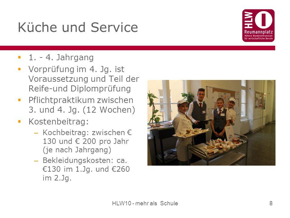 Küche und Service 1. - 4. Jahrgang