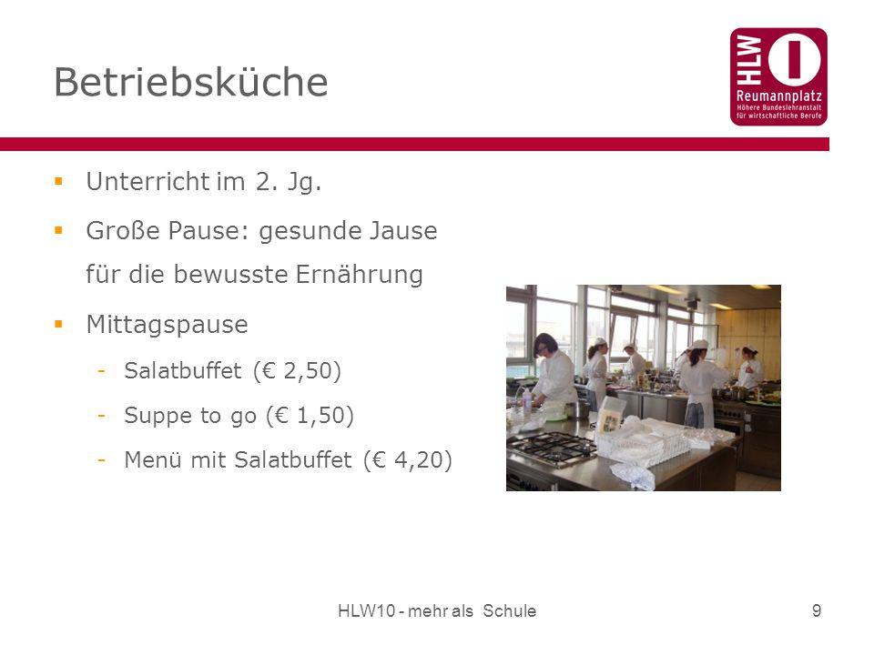 Betriebsküche Unterricht im 2. Jg.